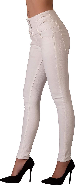 Glook Womens High Waist Skinny Slim Fit Stretchy Denim Butt Lifting Black Jeans Pants