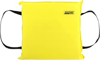 SEACHOICE 44900 Foam Emergency Marine Flotation Cushion 15-Inch x 15-Inch, Safety Yellow