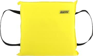 SEACHOICE 44900 Foam Emergency Marine Flotation Cushion 15-Inch x 15-Inch, Safety Yellow