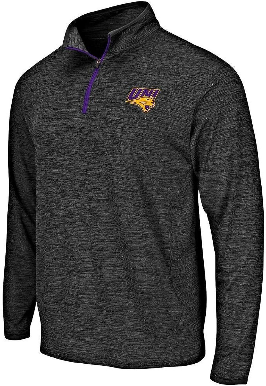 Colosseum Mens UNI Northern Iowa Panthers Quarter Zip Windbreaker Shirt