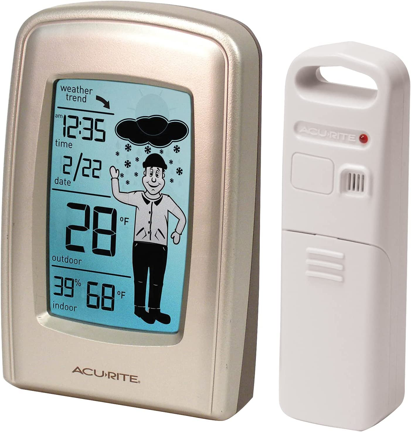 AcuRite 00827 What-to-Wear Wireless 0. favorite white Weather OFFicial store Forecaster