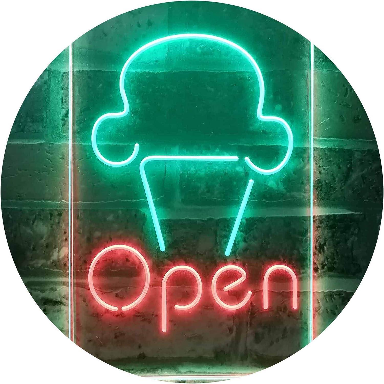 ADVPRO Finally resale start Open Ice Cream favorite Shop Store Neon Color Home LED Décor Dual