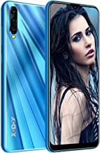 Xgody A90 Mobile Phones,Android 9.0 Unlocked Cell Phone, Dual Sim-Free Smartphone with 6.53 inch HD(19:9) Waterdrop Screen,5MP + 16GB ROM(Blue)