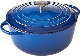 Pyrolux Cast Iron Casserole, Blue, 11785