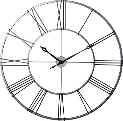 Howard Miller Stockton Wall Clock 625-472 – Oversized Round Wrought-Iron with Quartz Movement