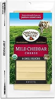 Organic Valley, Organic Mild Cheddar Cheese, Sliced, 6 oz