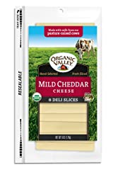 Organic Valley, Organic Mild Cheddar Cheese Slices - 6 oz Packet