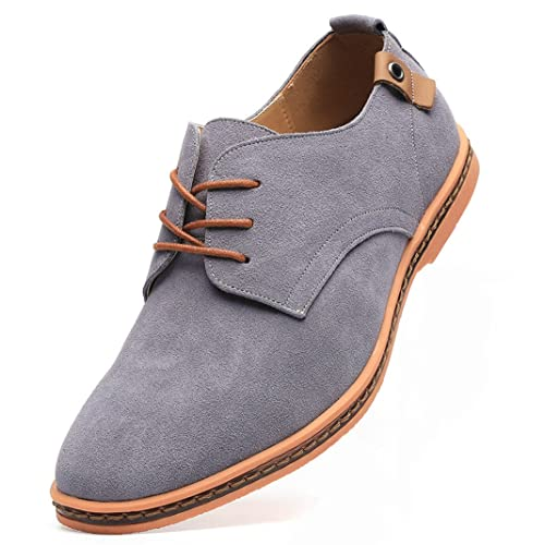 c5fa58069f DADAWEN Men s Classic Suede Leather Oxford Dress Shoes Business Casual Shoes