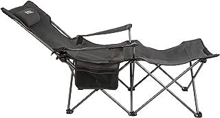 Umi. by Amazon Opvouwbare stoel, klapstoel met bekerhouders, bekleding en draagtas, strandstoel, comfortabele klapstoel me...