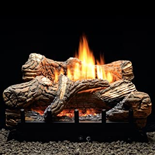 Thermostat 5-piece 24 inch Ceramic Fiber Log Set - Liquid Propane