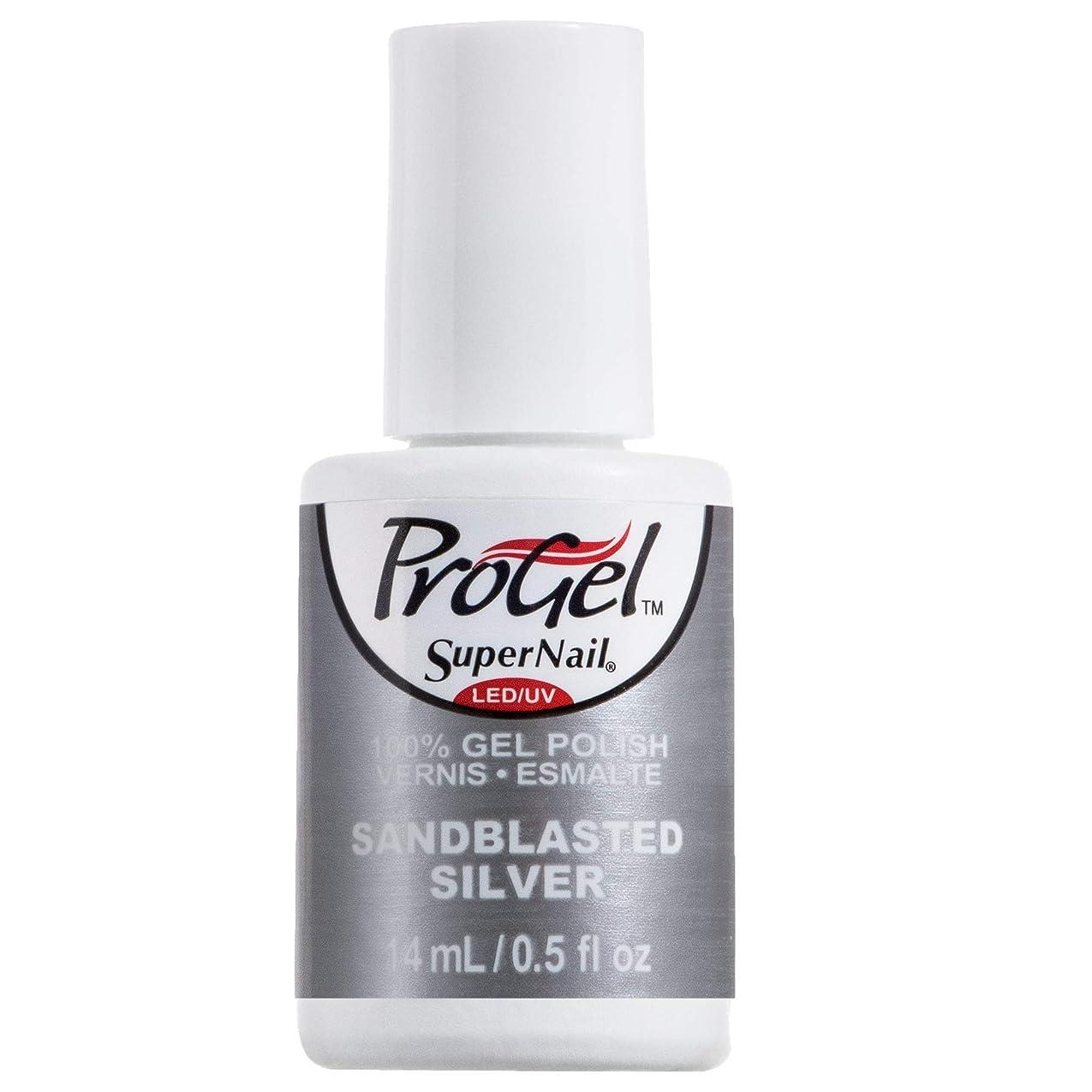 大破トレッド断線SuperNail ProGel Gel Polish - Sandblasted Silver - 0.5oz / 14ml