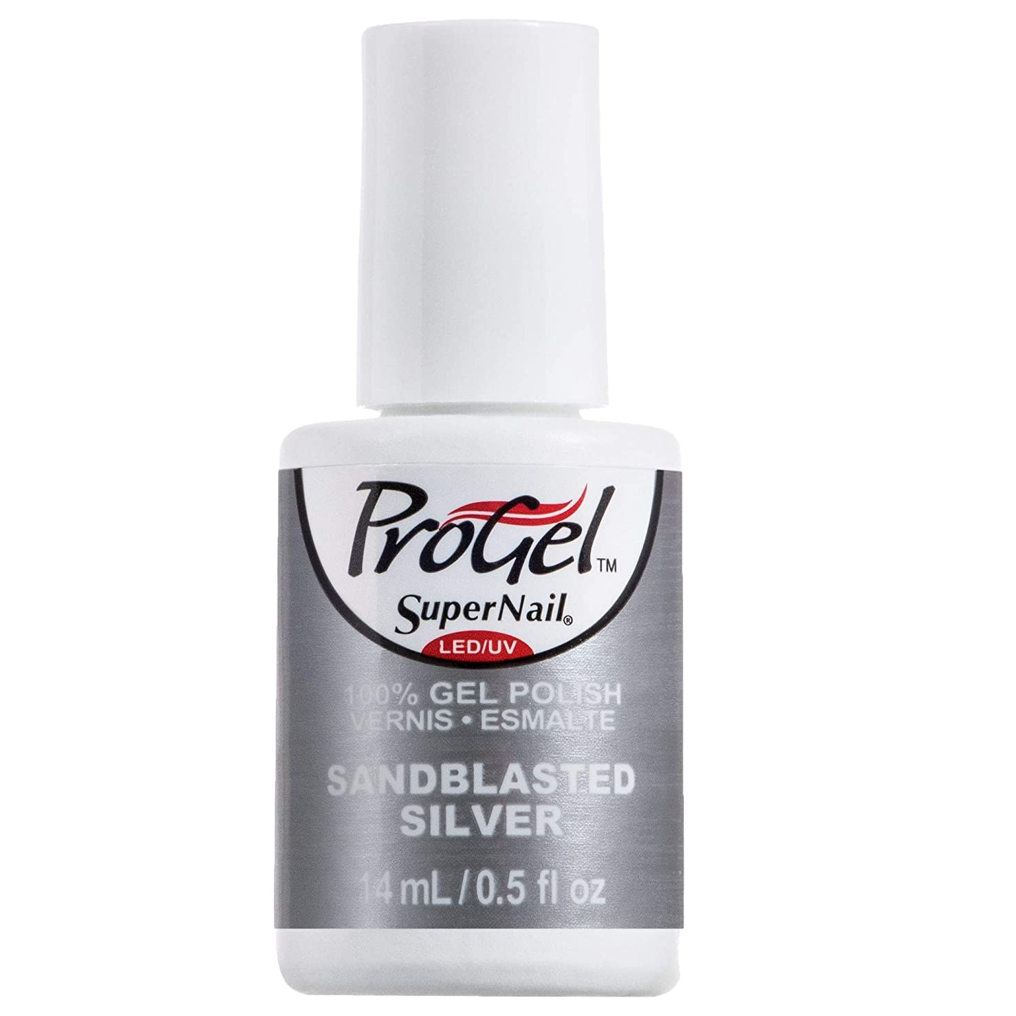 フリース飛ぶ自治SuperNail ProGel Gel Polish - Sandblasted Silver - 0.5oz / 14ml
