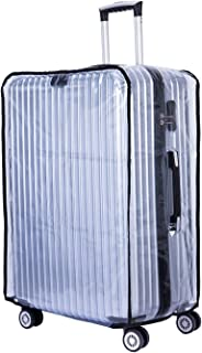 """BlueCosto Clear Oversize Travel Luggage Protectors Suitcase Cover 30"""" 32"""""""