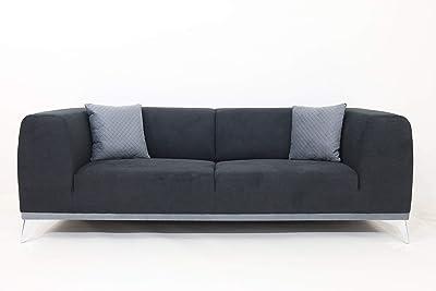 Danube Home Amarra 3 Seater Fabric Sofa - Dark Grey