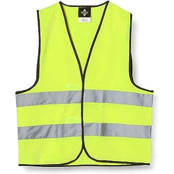 5X Warnwesten gelb Warnschutzweste Sicherheitsweste Arbeitsschutz Stoff weste DE