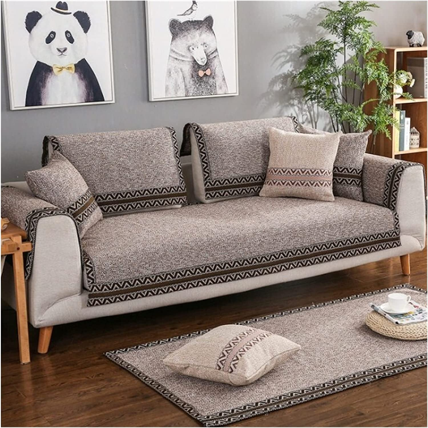 XUELINGTANG 1 Max 83% OFF Free shipping Piece Cotton Linen Cover Modern Fabric Style Sofa
