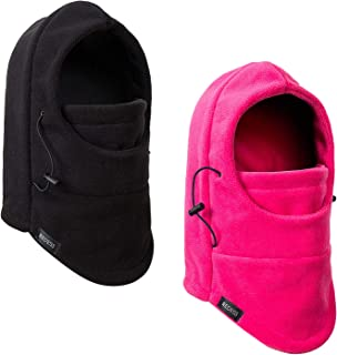 Kids Winter Windproof Hat, Unisex Children Heavyweight Balaclava, Ski Mask with Thick Warm Fleece Face Cover for Kids