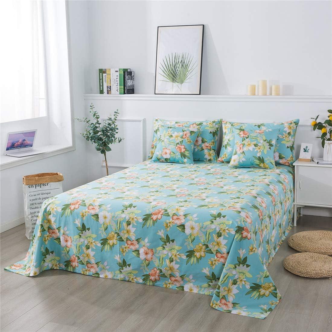 FADFAY Sheets Set Queen Elegant Watercolor Floral Bedding 800 Thread Count Luxury Vintage Farmhouse Bedding Hypoallergenic 100% Egyptian Cotton