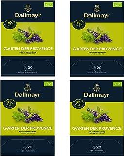 4 x Dallmayr Garten der Provence Kräutertee 20 Pyramiden x 2,5g