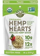Manitoba Harvest Organic Hemp Hearts Shelled Hemp Seeds, 18oz; 10g Plant-Based Protein & 12g Omegas per Serving, Whole 30 ...