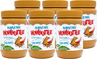 Peanut Free Tree Nut Free Natural No Stir Spread – WOWBUTTER – Award Winning Vegan Plant Protein Food made with Non-GMO verified Whole Soy – (Creamy, 6 Pack (1.1lb jars))