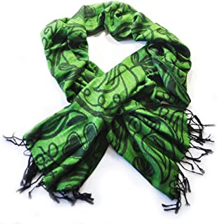 Green And Black Shamrock Pashmina Scarf