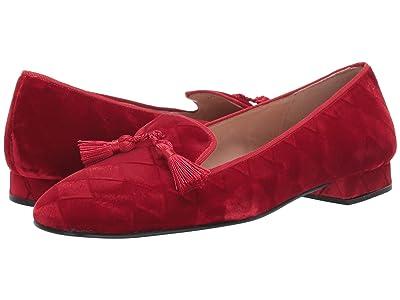 French Sole Nicky Hilton Eloise (Red Harlequin Velvet) Women