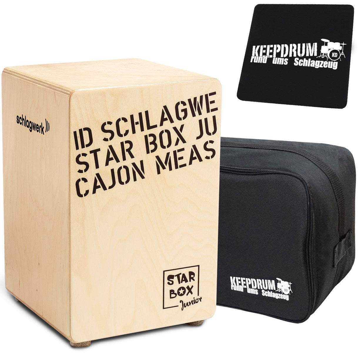 Schlagwerk CP400 SB Starbox Junior - Cajón de percusión para niños, incluye funda y almohadilla para asiento: Amazon.es: Instrumentos musicales