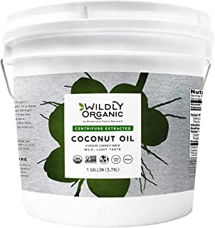 Wildly Organic By Wilderness Family Naturals Organic Coconut Oil Virgin Centrifuge Extracted, Non-GMO, Raw - (8 Pounds) 1 Gallon