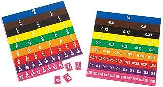 Learning Advantage Fraction/Decimal Tiles - Set of 51