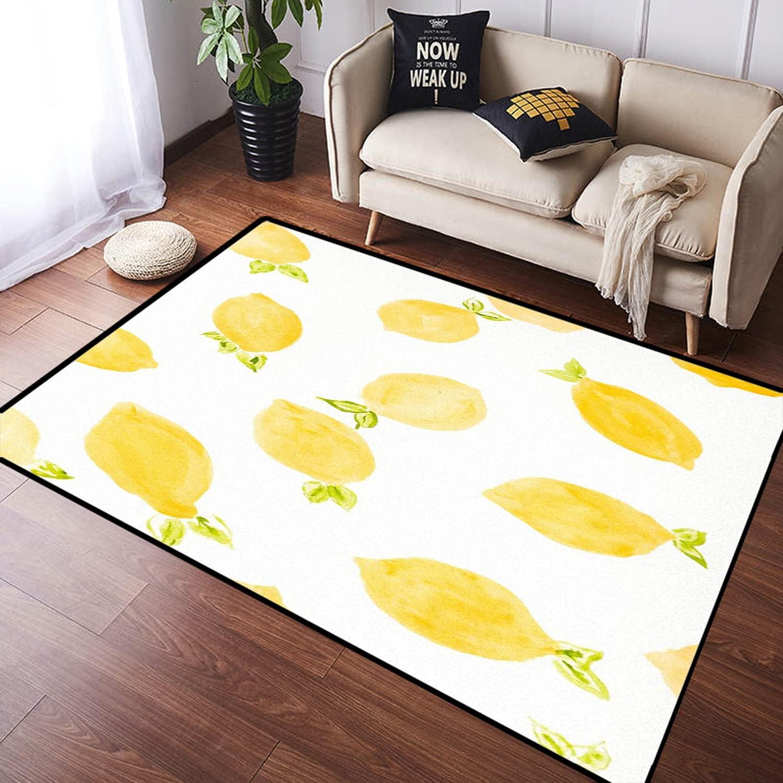 ZOMOY Long Floor Elegant Mat Carpet Lemon Indoo Absorbent Fresh Raleigh Mall Non-Slip