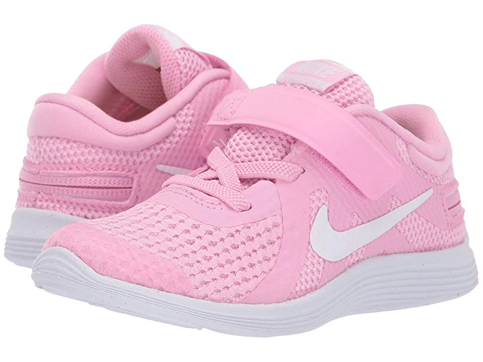 Nike Kids Revolution 4 FlyEase (Infant/Toddler) (Pink Rise/White/Pink Foam) Girls Shoes