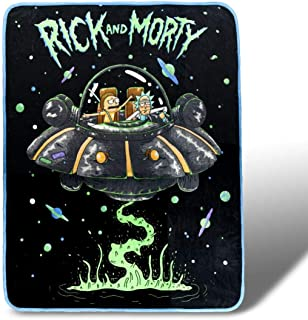 Rick and Morty Fresh Start Fleece Throw Blanket 45 x 60 Inches