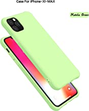 iPhone 11 PRO Case,Soft Silicone Gel Rubber Bumper Phone Case with Anti-Scratch Microfiber Lining Hard Shell Shockproof Full-Body Protective Case Cover for Apple iPhone 11 PRO 5.8 (Matcha Green)