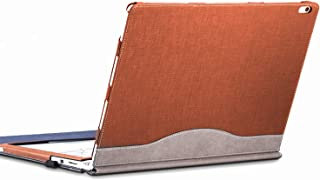 forubar Laptop Cover Case for Microsoft Surface Book 2 15 inch – Premium PU Leather Detachable Protective Flip Folio Case, Two Ways to use (Surface Book 2 15-inch, Brown)
