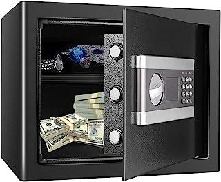 Kacsoo 1.2 Cub Fireproof Safe Cabinet Security Box, Digital Combination Lock Safe with Keypad LED Indicator, for Pistol Ca...