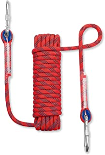 10mm Climbing Rope, Multi-Function Safety Rope, Lifeline, Speed Drop Rope, Aerial Work Rope, Bundled Rope, High Strength Rope with 2 Carabiner (Color : Red, Size : 50m)