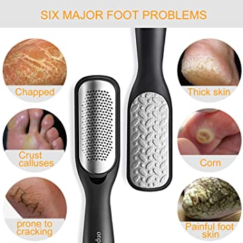 Foot File Callus Remover,Colossal Foot Rasp and Professional Foot Scrubber Pedicure Kit to Remove Hard Skin for Wet a...