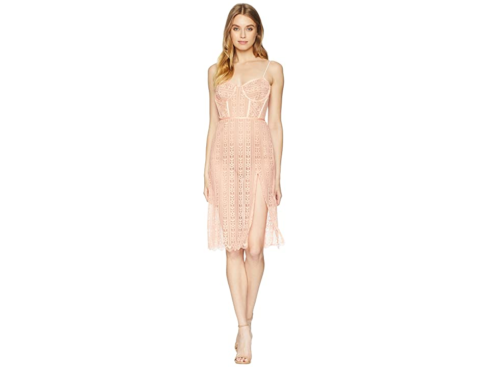For Love and Lemons Dakota Lace Midi Dress (Peach) Women
