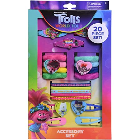 Trolls Hair Ties Poppy THREE PACKS Ouchless Bands Sparkly Headwrap Goody Lot