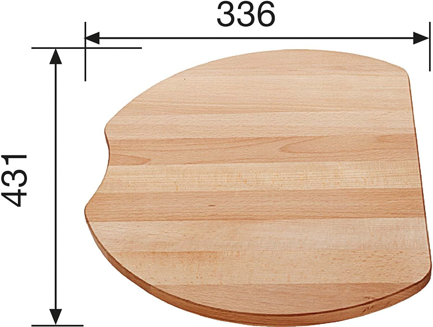 whiteo 215 525 Wooden Carving Board Beech Wood Kitchen Sink Sink Accessories
