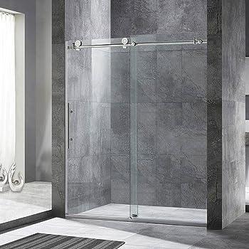 Woodbridge Frameless Chrome Finish Sliding Shower Door