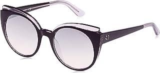 Guess Women's Sunglasses GU759183U53 - Violet/Bordeaux Mirror - Injected
