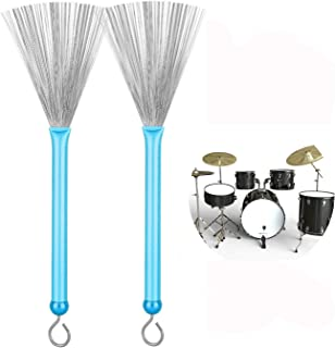 Eriding 1 Pair Drum Brushes Retractable Drum Wire Brushes...