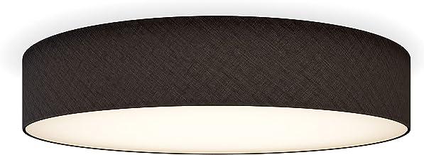 Smartwares IDE-60047 lampa sufitowa/abażur z tkaniny, 60 cm Ø, 4 x E27, czarna