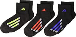 Vertical Stripe Quarter Socks 6-Pack (Little Kid/Big Kid/Adult)