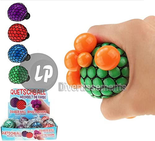 ALIKI Lot de 48 balles Quetschball bi-Couleur Mix 6cm