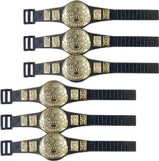 6 Man Tag Championship Belts for WWE Wrestling Action Figures (Set of 6)
