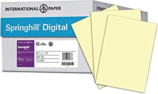 Springhill Colored Paper, Cardstock Paper, Canary Paper, 67lb, 147gsm, 8.5 x 11, 8 Reams / 2,000 Sheets - Vellum Card Stock, Thick Paper (036000C)