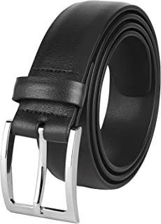 "The Savile Row Company Mens Dress Leather Belt 35MM 1.38"" wide Black Brown Tan & Reversible"